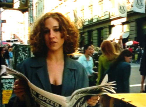 "Carrie Bradshaw in ""Sex and the City"""