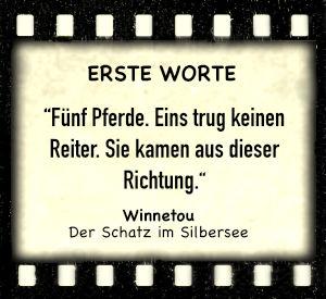 """Winnetou und Old Shatterhand in """"Der Schatz im Silbersee"""" - Zitat"""